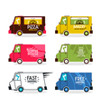 Bus delivery set vector image vector image