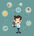 Businessman communication technology vector image vector image