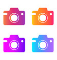 camera icon in trendy flat style gradient vector image