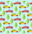 cars and trees seamless pattern design vector image vector image