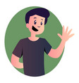 cartoon cute man on white background vector image vector image
