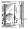 casement window outward like a door vintage vector image vector image