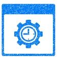 Clock Configuration Gear Calendar Page Grainy vector image vector image