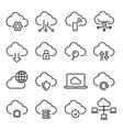 cloud computing icon set information and database vector image