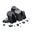 coal black mineral resources pieces fossil vector image vector image