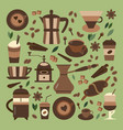 coffee house and shop icon set vector image vector image
