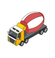 concrete mixer truck composition vector image vector image