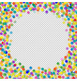 confetti with transparent background vector image vector image