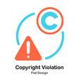 copyright violate flat vector image