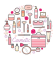 Cosmetics And Beauty Icons Set vector image vector image