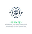 currency exchange financial services dollar sign vector image vector image