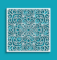 cutout paper panel with lace pattern vector image