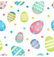 easter seamless pattern with colorful decorative vector image vector image