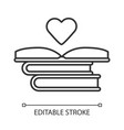 educational books distribution linear icon vector image
