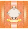 Elegant vintage frame design for greeting card vector image vector image