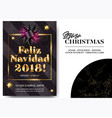 feliz navidad 2018 merry christmas in spanish vector image