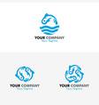 fish logo vector image vector image