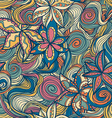 floral pattern with colorful blooming flowers and vector image vector image
