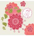 flower design4 vector image vector image