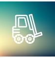 Forklift truck thin line icon vector image