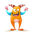 funny cute crazy monster - cartoon characters vector image vector image