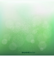 green blurry bokeh background vector image vector image