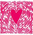 Hand drawing heart in form a fingerprint