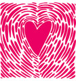 hand drawing heart in the form of a fingerprint vector image