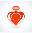 heart shaped bottle of perfume st valentines day vector image