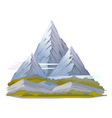 High Mountain Landscape vector image vector image