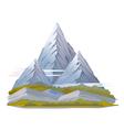 High Mountain Landscape vector image vector image