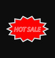 hot sale vintage signboard on a dark background vector image