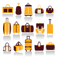 icons set of Baggage theme Collection of Travel vector image vector image