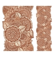 Indian henna tattoo style floral vertical vector image vector image