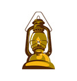 kerosene oil lamp retro vector image