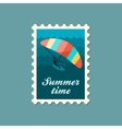 Kite boarding Kitesurfing stamp Vacation vector image vector image