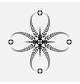Laurel wreath tattoo icon Black ornament Cross vector image vector image