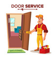 locksmith repairman unlock the door vector image