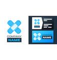 logotype set bandage plaster icon isolated