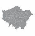 london regions map vector image vector image