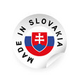 made in slovakia flag sticker vector image vector image