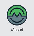 masari virtual currency - colored logo vector image vector image