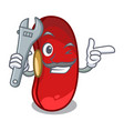 mechanic red beans pile isolated on mascot vector image vector image
