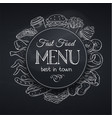 menu template fast food vector image vector image