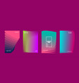 modern covers design set abstract bright neon vector image vector image