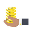 money coins isolated vector image