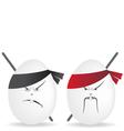 ninja eggs vector image vector image