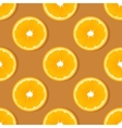 Orange slice fruit seamless pattern Citrus vector image vector image