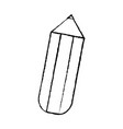 pencil chubby icon image vector image vector image