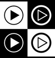play sign black and white vector image